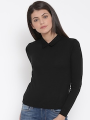 United Colors of Benetton Women Black Solid Top
