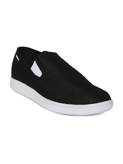 Reebok Men Black Solid Court Slip-On Sneakers