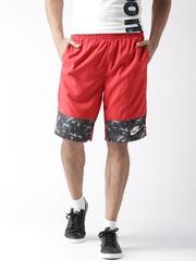 Nike Men Red AS NSW WVN AOP FLOW Printed Sports Shorts