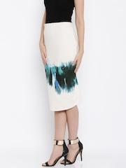 Vero Moda White Printed Pencil Skirt