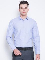 Mark Taylor Men Blue Slim Fit Solid Formal Shirt