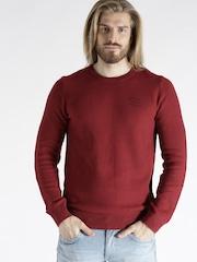 s.Oliver Men Red Patterned Sweater