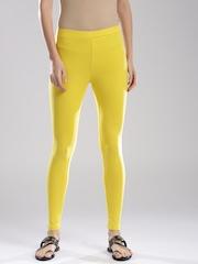 W Yellow Ankle Leggings