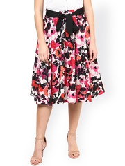 Harpa Multicoloured Floral Print Flared Skirt