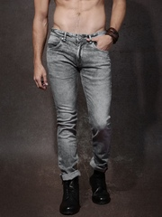 Roadster Men Charcoal Skinny Fit Mid-Rise Jeans