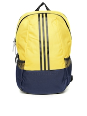 Adidas Men Yellow & Navy ST BP2 Colourblocked Laptop Backpack