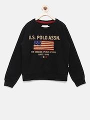 U.S.Polo Assn. Kids Boys Black Sweatshirt