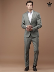 Louis Philippe Grey Single-Breasted Milano Fit Suit