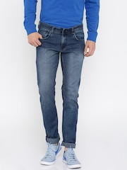 Peter England Men Blue Skinny Fit Low Rise Clean Look Jeans