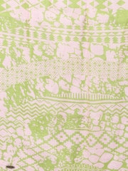 SHINGORA Green & Off-White Dobby Patterned Muffler