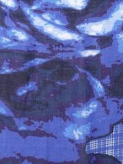 SHINGORA Blue Dobby Patterned Muffler