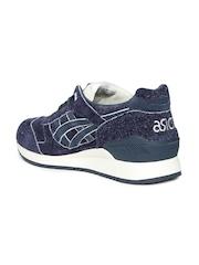ASICS Tiger Unisex Gel-Respector Navy Blue Suede Running Shoes