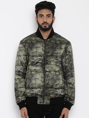 Lee Olive Green Printed Jacket