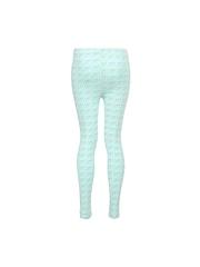Miss Alibi Girls Sea Green Printed Leggings