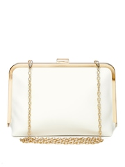 Lisa Haydon for Lino Perros White Clutch with Chain Strap