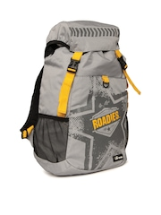 The Vertical Unisex Roadies Collection Grey Backpack
