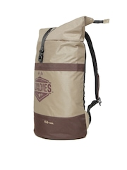 Roadies by THe VerTicaL Unisex Brown Printed Foldable Backpack