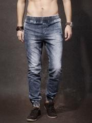 RDSTR Men Blue Mid Rise Clean Look Jogger Jeans