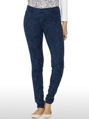 Kraus Jeans Navy Floral Print Skinny Fit Jeggings