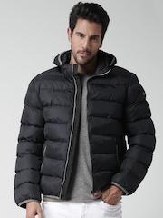 CAT Black Williamsburg Puffer Jacket with Detachable Hood