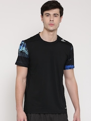 Adidas Men Black TF Base Fitted Solid Round Neck T-Shirt