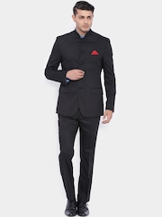 SUITLTD Black Single-Breasted Slim Fit Suit
