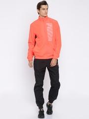 PUMA Neon Orange & Black Printed Tracksuit