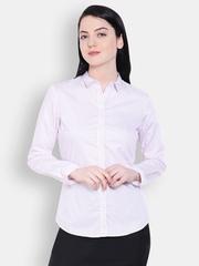 Allen Solly Woman Women White Striped Casual Shirt