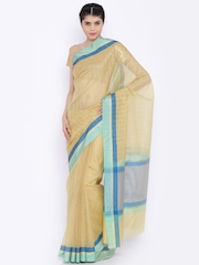Jashn Beige Kota Supernet Traditional Saree