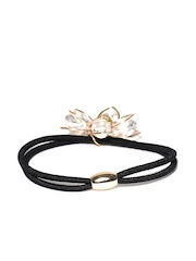 Accessorize Black Stone-Studded Floral Hairband
