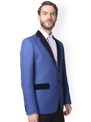 Alvin Kelly Blue Single-Breasted Formal Blazer