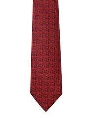Peter England Statements Red & Black Patterned Tie