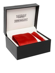 Peter England Statements Red Accessory Gift Set