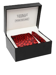 Peter England Statements Black & Red Accessory Gift Set