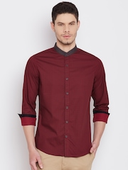 United Colors of Benetton Men Red Printed Casual Shirt