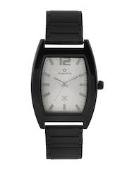 maxima Attivo Men Silver-Toned Dial Watch 35385CMGB