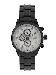 maxima Men Silver-Toned Dial Watch 38260CMGB