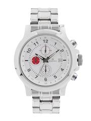 maxima Men White Chronograph Dial Watch 43171CMGI