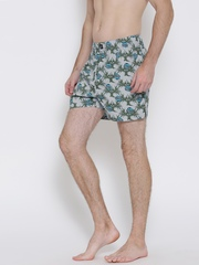 Indigo Nation Street Men Blue Tropical Boxers 50010393672005