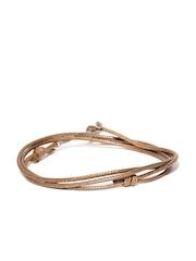 The Bro Code Men Brown Wrap-Around Bracelet