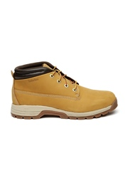 Timberland Men Tan Brown Mid-Top Nubuck Leather Sneakers