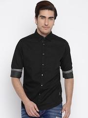 Being Human Clothing Men Black Casual Shirt