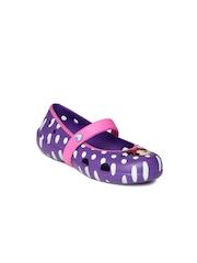Crocs Disney Girls Purple Keeley Minnie Printed Clogs