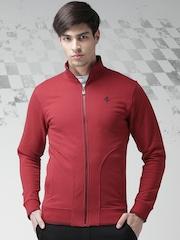 Ferrari Red Classic Full Zip P.R. Horse Sweatshirt