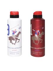 Beverly Hills Polo Club Sport Set of 2 Men Deodorant Body Sprays