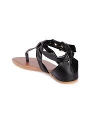 Nell Women Black Solid Flats