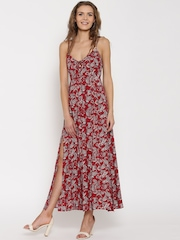 FOREVER 21 Women Red Printed Maxi Dress