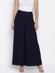 AND by Anita Dongre Navy Palazzo Trousers
