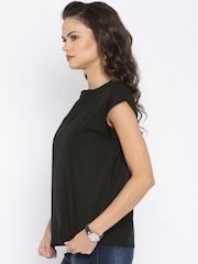 AND Women Black Solid Top