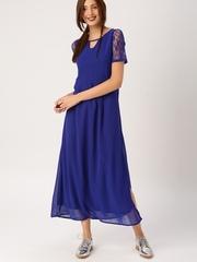 DressBerry Women Navy Blue Maxi Dress